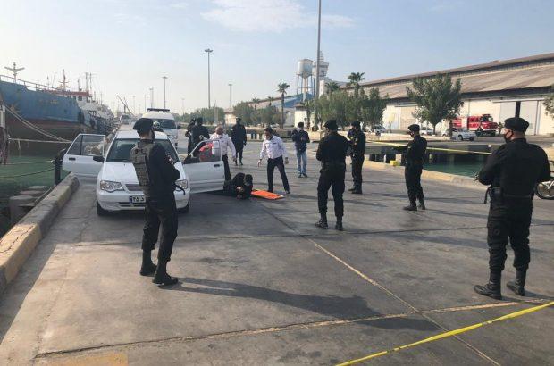 مانور عملیاتی مقابله با نفوذ و اقدامات خرابکارانه در بندر بوشهر برگزار شد