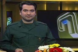 حضور گوینده ۲۰:۳۰ با لباس سپاه پاسداران انقلاب اسلامی