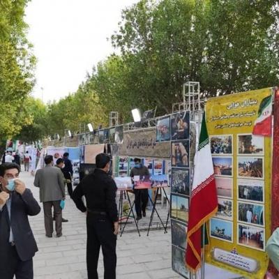 نمایشگاه دستاوردهای ۴۰ساله دفاع مقدس در بوشهر افتتاح شد