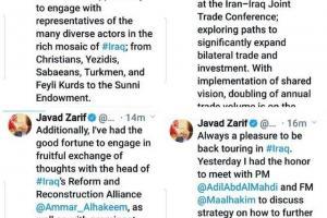 گزارش توییتری ظریف از یک عزیمت