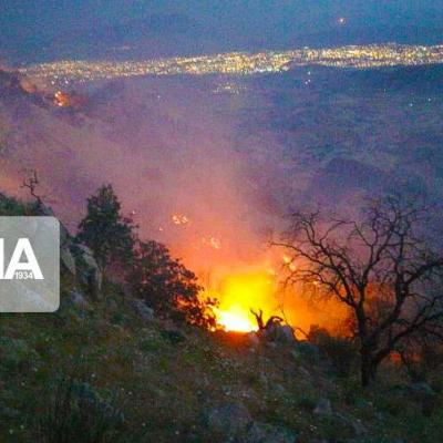 حریق ارتفاعات شاپورجان شیراز مهار شد