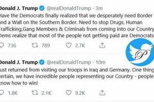 توئیت های ترامپ بعد از عزیمت به عراق