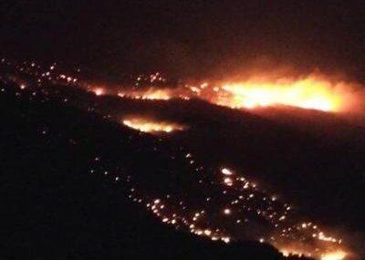 مهار آتش سوزی کوه سیاه قلعه رئیسی کهگیلویه