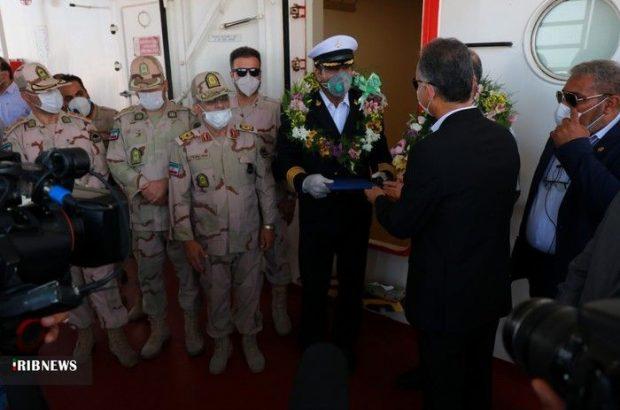 استقبال و قدردانی از خدمه یکی از نفتکشهای ایرانی اعزامی به ونزوئلا در بوشهر