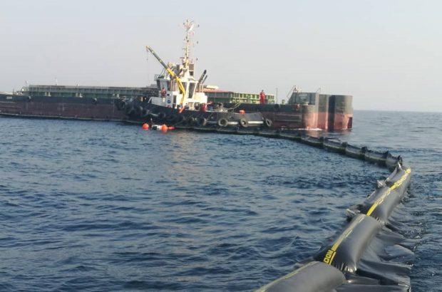 لکه نفتی ایجاد شده در نزدیکی سکوهای نفتی العربیه عربستان، پاکسازی شد.
