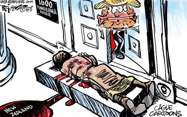 کاریکاتور: تقدیم به رهبر نژادپرستان جهان!
