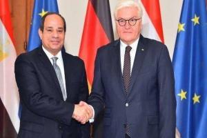 دیدار روسای جمهور آلمان و مصر در برلین