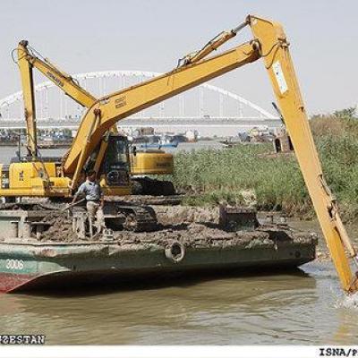 لایروبی رودخانه کارون آغاز شده است