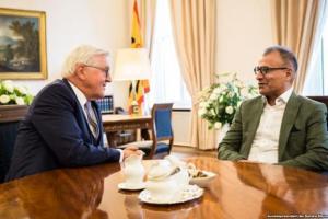 دیدار نویسنده ایرانی با رئیس جمهوری آلمان