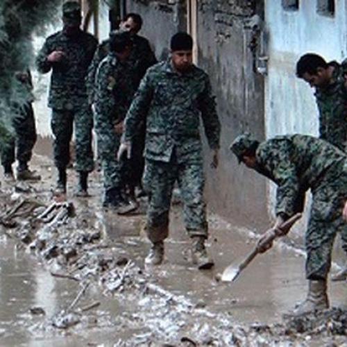 اسکان مردم مناطق سیل زده در نقاط امن توسط ستاد بحران استان ها / نیروی انتظامی، حامی و پشتیبان مردم است