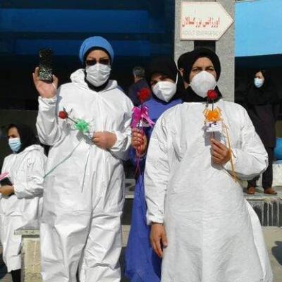 قدردانی خادمیاران رضوی از کادر درمان استان بوشهر