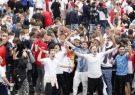 یورو ۲۰۲۰  درگیری شدید هواداران مست انگلیسی با پلیس/ ورود صدها تماشاگر بدون بلیت به ومبلی + فیلم
