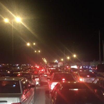 ترافیک سنگین در آزادراه تهران-پردیس