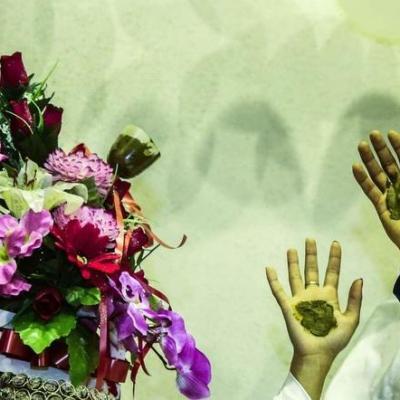 تصاویر  عروسی سیلزدگان آق قلا