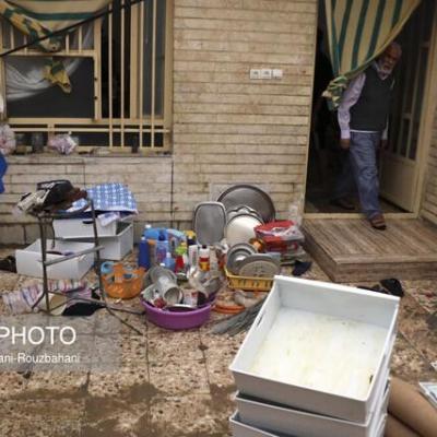 اسکان اضطراری بیش از یک هزار خوزستانی آسیب دیده از بارندگی
