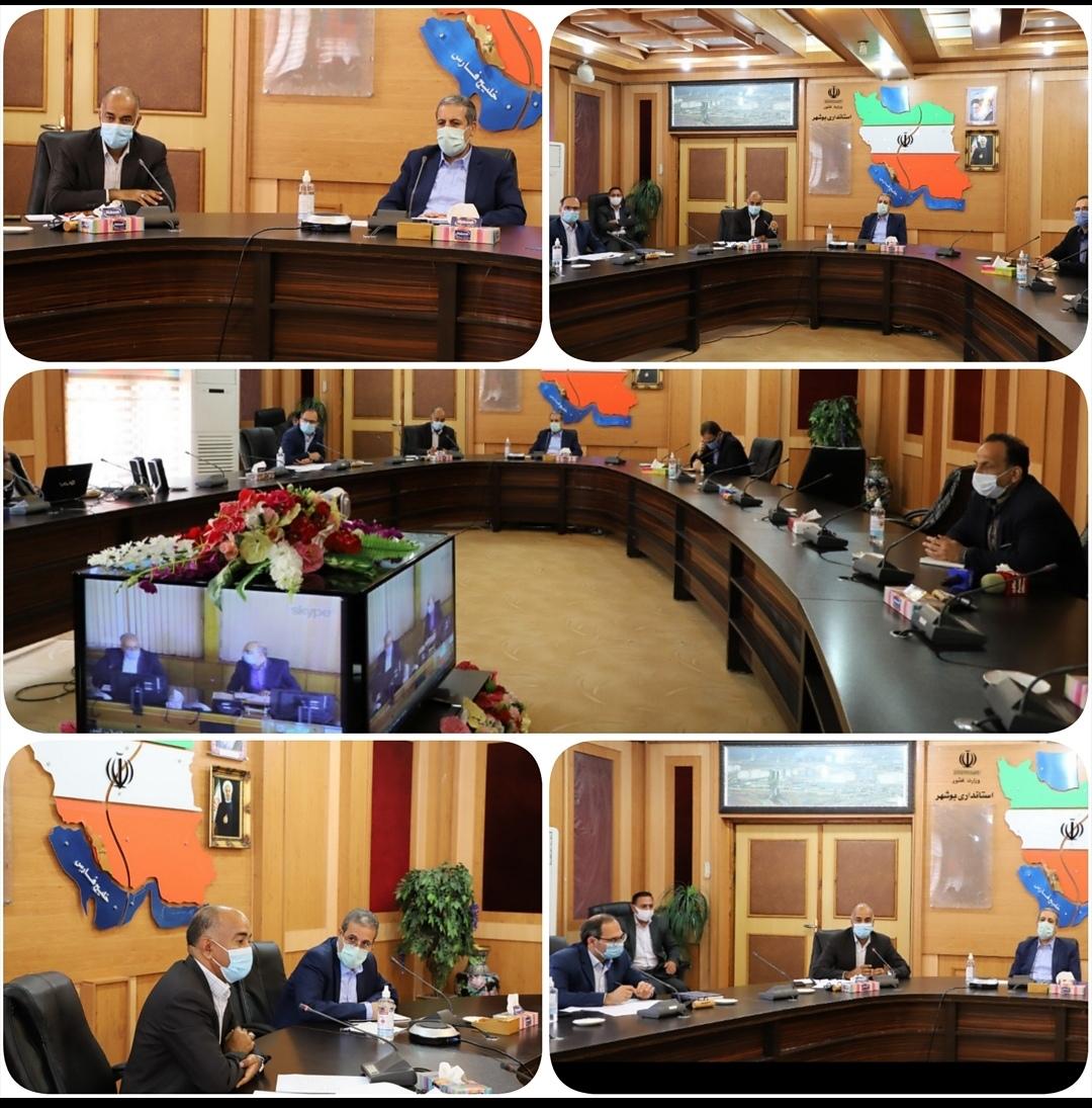 بررسی روند اجرای طرحهای آب شیرینکن استان بوشهر با حضور مدیرعامل شرکت مهندسی اب و فاضلاب کشور واستاندار بوشهر