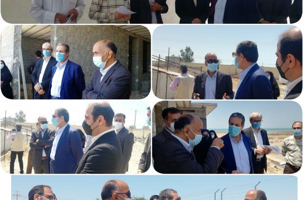استاندار بوشهر رونداجرای آب شیرینکن روستاهای شیف و هلیله بندرگاه بوشهر بررسی کرد